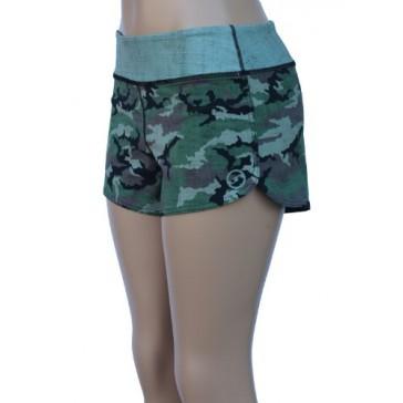UN92 WC14 Women's Tactical Camo Fit Shorts, Jungle-2