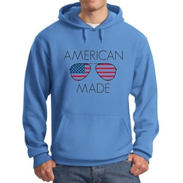 American Flag USA Shades - Made in America Sunglasses - July 4th Hoodie Large California Blue