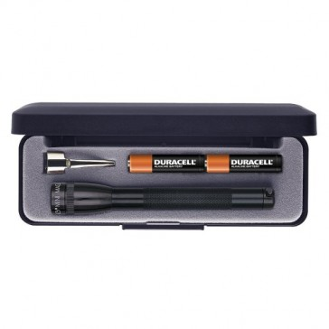 Maglite Mini Incandescent 2-Cell AAA Flashlight in Presentation Box, Black