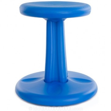 """Kore Patented WOBBLE Chair, Made in the USA, Active Sitting for Toddler, Pre-School, Kids, and Teens; Kids don't have to sit still anymore - """"The BEST seat in any Classroom""""! - Blue - Kids (14in)"""