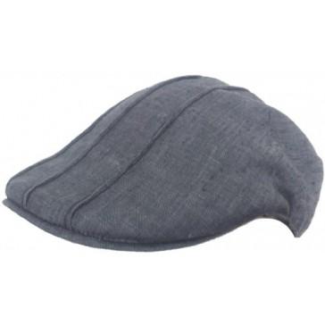 Headchange Made in USA 100% Linen Ivy Pub Cap (Black, S/M)