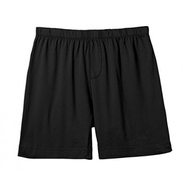 City Threads Men's Cooling Boxers Underwear Naked and Made in USA - Relaxed Fit, Black, XS