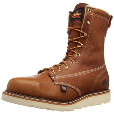 "Thorogood Men's American Heritage 8"" Safety Toe Boot,Tobacco Gladiator,7 D US"