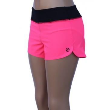 UN92 WC14 Women's Zest Fit Shorts, Neon Pink-2