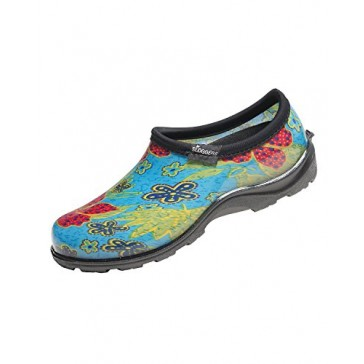 Principle Plastics Sloggers Women's Rose Leaf Print Rain & Garden Shoes, Size 8