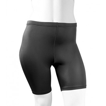 Plus Women's Spandex Exercise Compression Workout Shorts Black 3XL