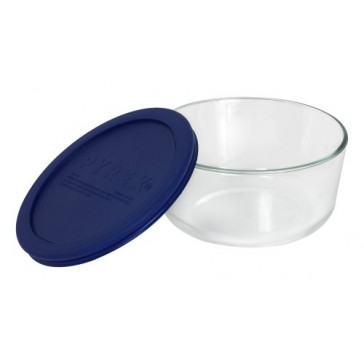 Pyrex Simply Store 4-Cup Round Glass Food Storage Dish