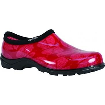 Principle Plastics Sloggers Women's Rose Leaf Print Rain & Garden Shoes, Size 6