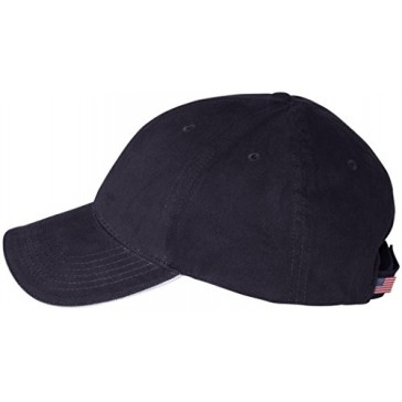 Bayside Made in the USA Structured Twill Cap. 3621 - Small - Navy / White