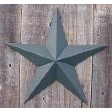 32 Inch Solid Hunter Green Barn Star Made with Galvanized Metal to Prevent Rusting. Amish Hand Made Your Source for Heavy Duty Metal Tin Barn Stars and Primitive Style Stars for Your Country Crafts and Home and Garden Decor. American Handcrafted - Made in