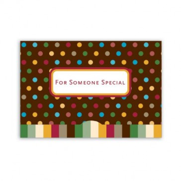 Jillson Roberts Gift Card Holders, For Someone Special, Small Dots, 6-Count (GCP003)