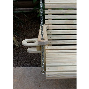 ROLL BACK Amish Heavy Duty 800 Lb 5ft. Porch Swing With Cupholders - Made in USA