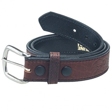 Working Person's 18304 Bison Leather Brown Belt - Made In The USA (34)