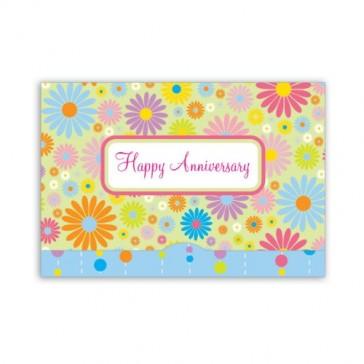 Jillson Roberts Gift Card Holders, Anniversary, Spring Flowers, 6-Count (GCP016)