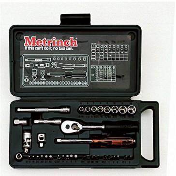 "Metrinch 1/4"" Drive Socket 37 Piece Set"