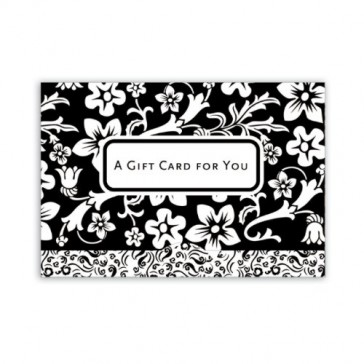 Jillson Roberts Gift Card Holders, A Gift for You, Black and White Floral, 6-Count (GCP043)