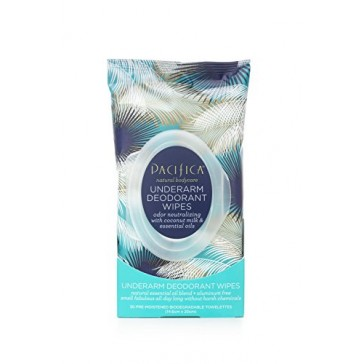 Pacifica Underarm Deodorant Wipes - COCONUT MILK & ESSENTIAL OILS (30 Count)