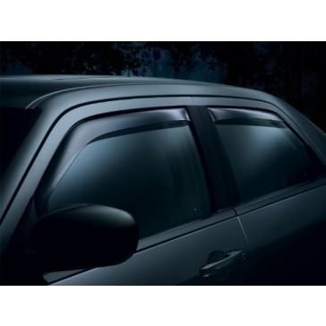 WeatherTech Custom Fit Front & Rear Side Window Deflectors for Chevrolet Silverado Crew Cab 1500, Dark Smoke
