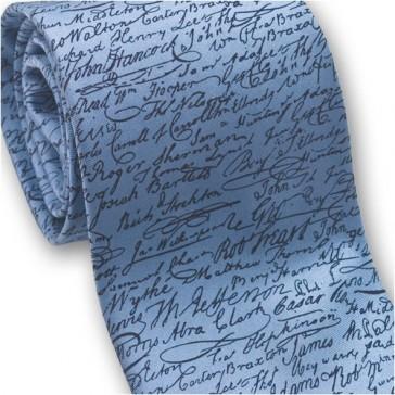 Josh Bach Mens Signatures Declaration of Independence Silk Necktie, Made in USA