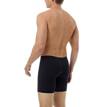 Underworks Cotton Spandex Ultra Light Compression long boxers 3-Pack X-small Black