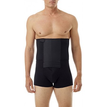 Underworks Zip-N-Trim Support Boxer Brief for Men with 8-inch Powerband 3-Pack Small Black