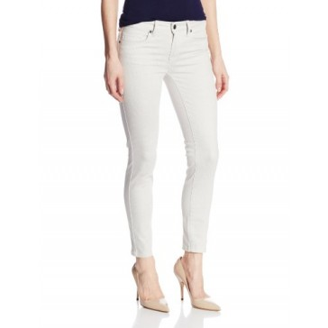 Genetic Women's Brooke Mid-Rise Crop Skinny Jean in Torque, White, 24