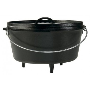 Lodge Seasoned Cast Iron Deep Camp Dutch Oven - 12 Inch / 8 Quart