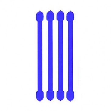 Nite Ize Reusable Rubber Twist Ties Blue Carded 4 / Pack
