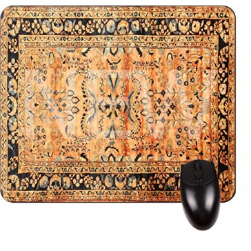 Antique Look Persian Rug-Square Mouse pad - Stylish, Durable Office Accessory Made in the USA