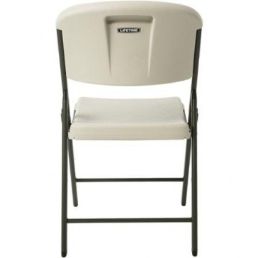 Lifetime Classic Commercial Folding Chair Indoor/Outdoor Use, and Designed for Durability Set of 4 (Almond)