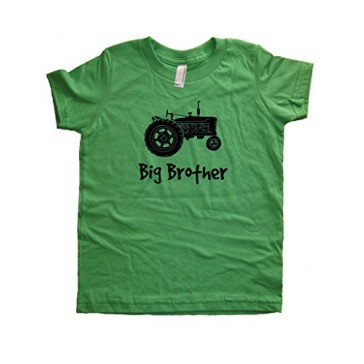Boys Tractor Big Brother Shirt 2T Green by Sunshine Mountain Tees