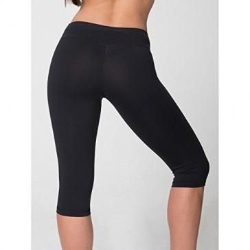 American Apparel Womens/Ladies Knee Length Fitness Leggings/Bottoms (XS) (Black)