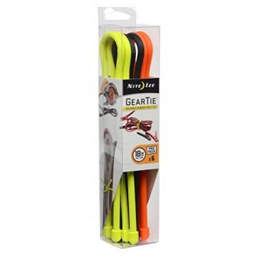 Nite Ize Gear Tie ProPack Reusable Rubber Twist Tie, 18-Inch, Assorted