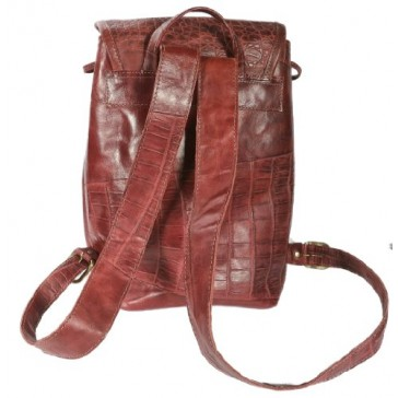 Montecito Large Red Leather Backpack Handbag by Grey & Orr Made in USA
