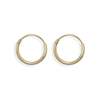 Endless Hoops 1mm x 16mm Hoop Earrings 12k Yellow Gold-filled, Made in the USA