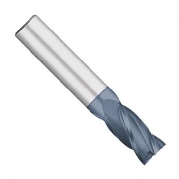"Kodiak Cutting Tools KCT166384 USA Made Solid Premium Carbide End Mill, AlTiN Coated, 4 Flute, 3/32"" Diameter, 1/8"" Shank, 3/8"" Length of Cut, 1-1/2"" Overall Length"