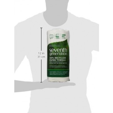 Seventh Generation Paper Towels, 100% Recycled Paper, 2-ply, 1 Roll (Packaging May Vary)