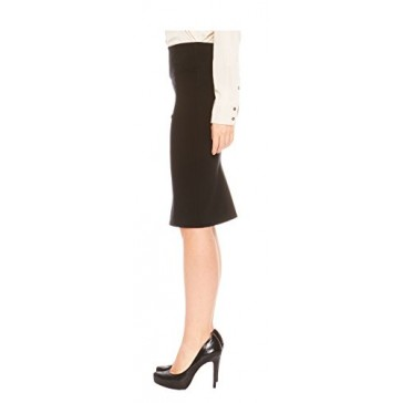 Red Hanger Women's Bodycon Fitted Pull On Knee Length Midi Pencil Skirt, Black-S
