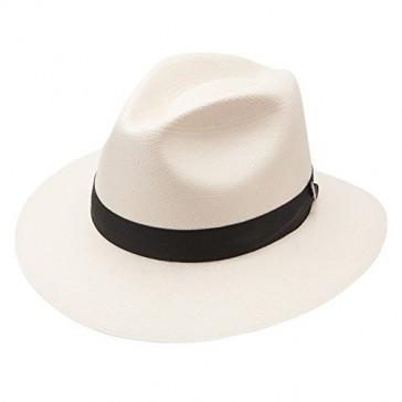 Stetson & Dobbs Men's Gulfport Shantung Straw Fedora Hat, Natural - 7 1/8
