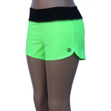 UN92 WC14 Women's Zest Fit Shorts, Neon Green-2