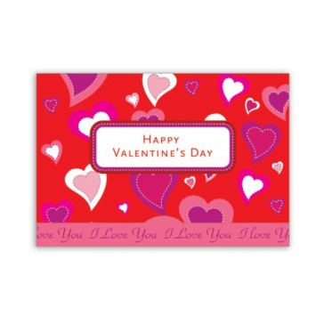 Jillson Roberts Gift Card Holders, Valentine's Day, Collage of Hearts, 6-Count (GCP023)