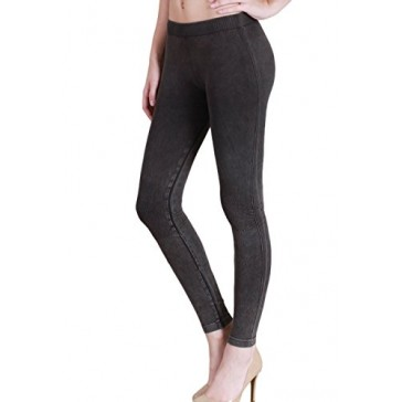 Nikibiki Thick Vintage Knee Checker Legging NB6548 (Charcoal)