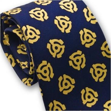 Josh Bach Men's 45 Adapter Music Silk Necktie Blue, Made in USA