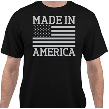 MADE IN AMERICA | USA Military Pride Tactical Subdued Merica Flag Unisex T-shirt - Black - Small