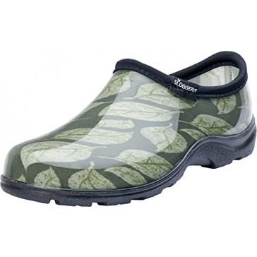 Principle Plastics Sloggers Women's Sage Leaf Print Rain & Garden Shoes, Size 6
