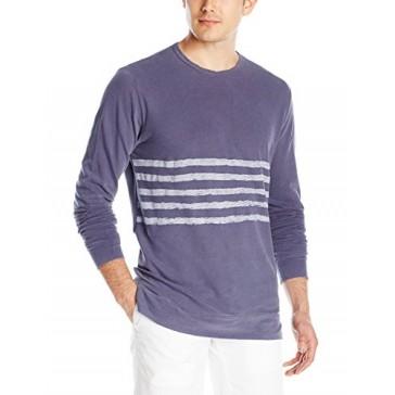 VELVET BY GRAHAM & SPENCER Men's Jensen Light-Weight Terry Long Sleeve Shirt, Denim, Small