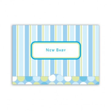 Jillson Roberts Gift Card Holders, New Baby Boy, Blue Stripes, 6-Count (GCP021)
