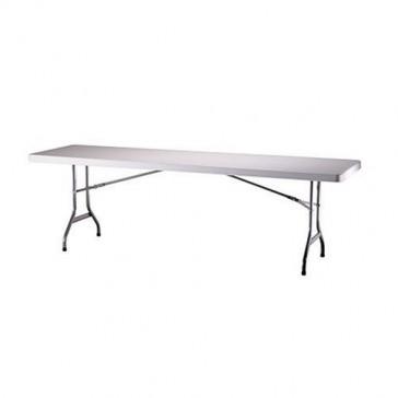 Lifetime 22980 Folding Utility Table, 8 Feet, White Granite