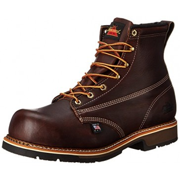 Thorogood Men's American Heritage 6 Inch Safety Toe Work Boot, Brown, 7 D US