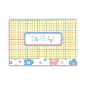 Jillson Roberts Gift Card Holders, Oh Baby Plaid, 6-Count (GCP007)